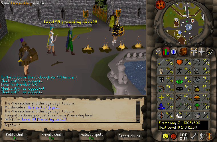 Ixfd64s Awesome Adventures Got 99 Firemaking In RuneScape Again